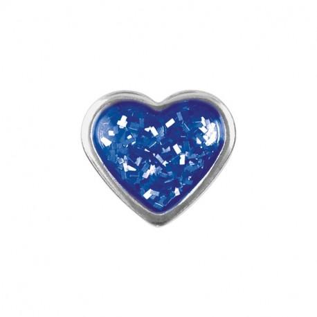Coeur Brillant bleu - acier