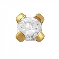 4 Griffes Diamant Or jaune 0.03 CT par pièce soir 0.06 CT par paire