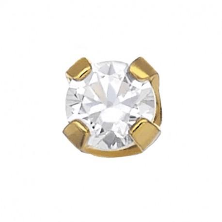 4 Griffes Diamant Or Jaune 0.05 CT par pièce soit 0.10 CT par paire