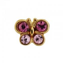 Papillon rose clair 9 Carats