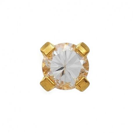 Zircon 3mm,  or jaune