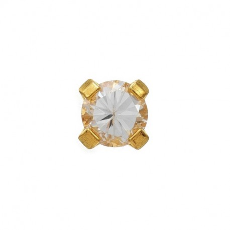 Zircon 2mm,  or jaune