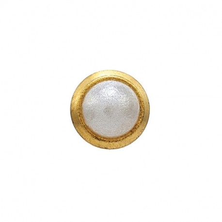 Perle sertie 3mm,  doré