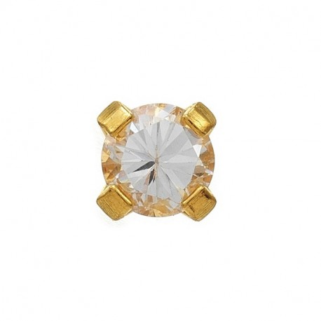 Cristal 3mm griffé,  doré