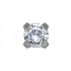 Zircon 3mm,  or blanc 9K