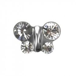 Papillon Cristal,  acier