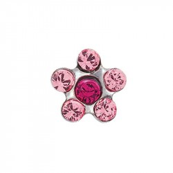 Daisy rose/coeur fuchsia,  acier